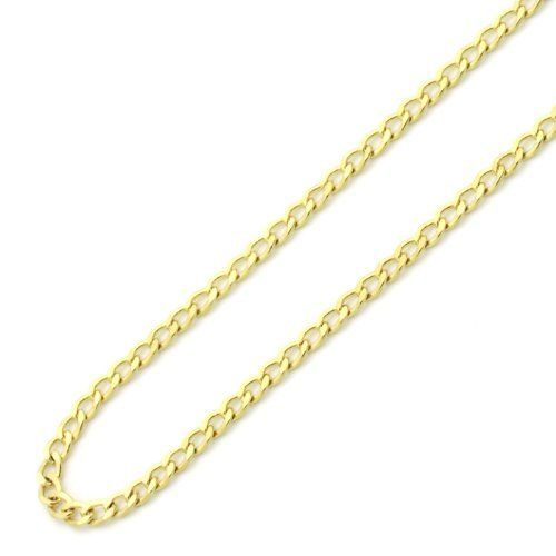 "14K Yellow Gold 1.5mm curb Light Chain Necklace 22"" Double Accent. $198.00. Prompt Shipping. 14K Solid Gold"