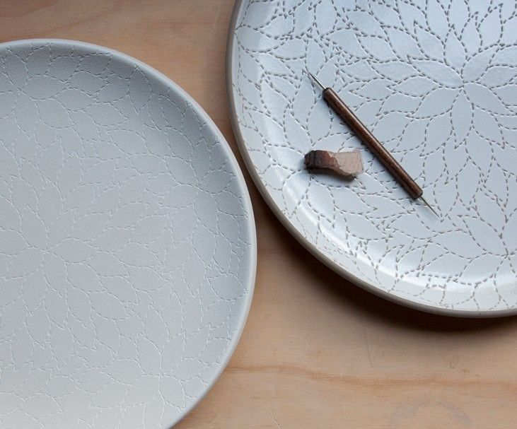 Our new, large-scale Camellia pattern, named for the Alabama state flower, is the highlight of this 5-piece place setting, inspired by Natalie Chanin. We combine this beautifully detailed hand-etched dinner plate with a classic Heath salad plate and B&B plate in Cocoa/Fawn, along with a cereal bowl and large mug in Opaque White, for an elegant and noteworthy place setting.<br /><br />    Please note: 10% set discount is reflected in list price.