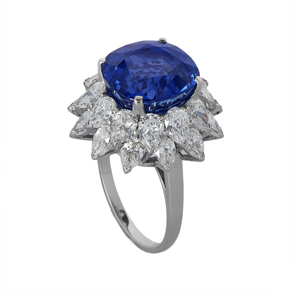 engagement european cut ring art carat sapphire old antique diamond s deco