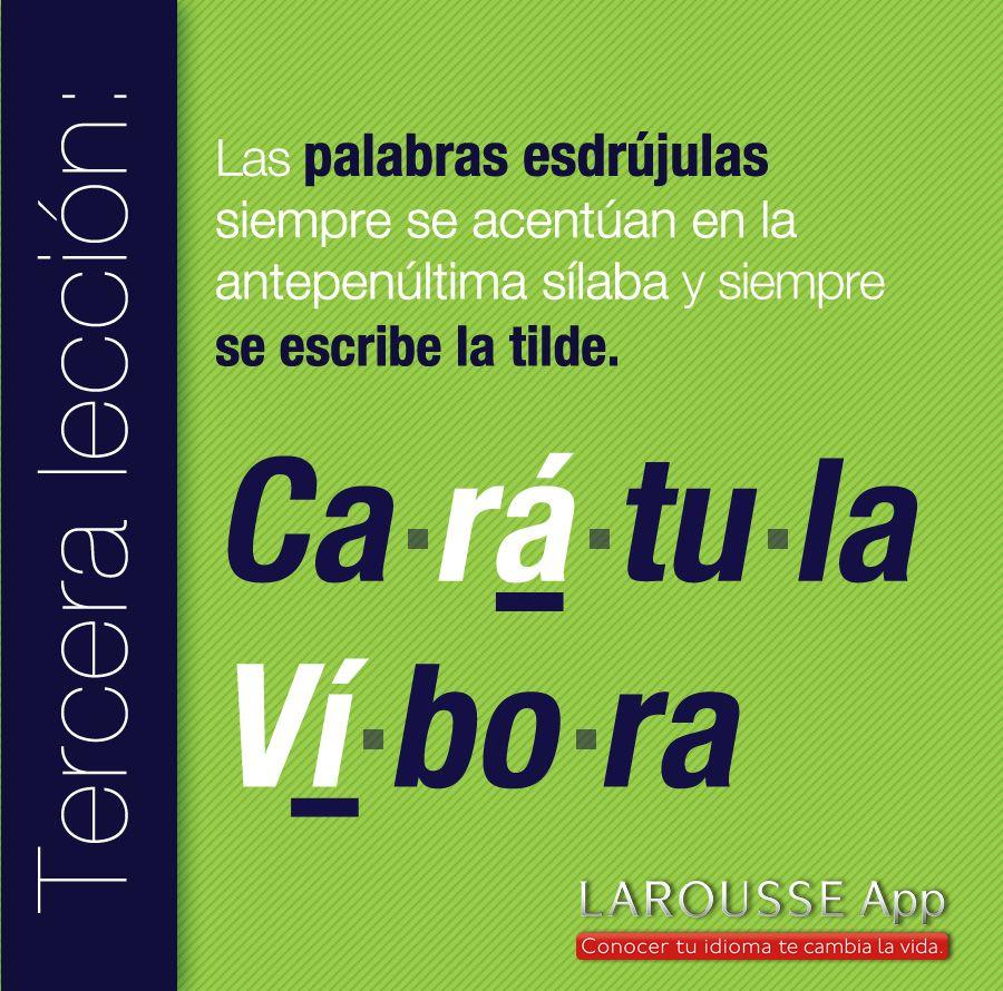 palabras esdrújulas | Estado de coma | Pinterest | Spanish