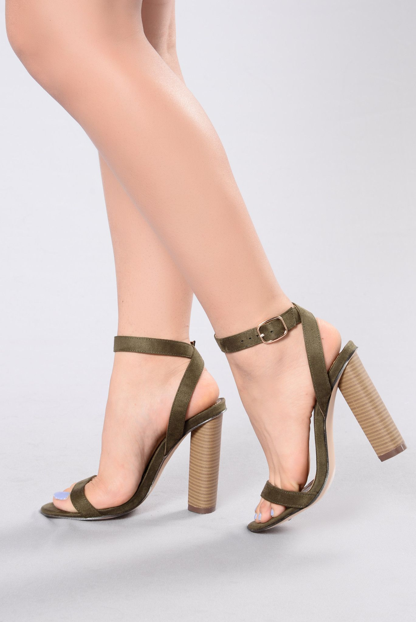 79dcad102a2 Simple And Sleek Heel - Olive