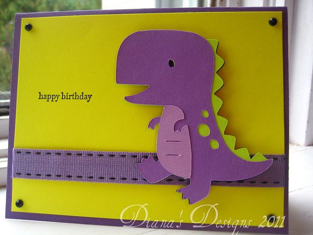 T Rex Birthday Card By Diana