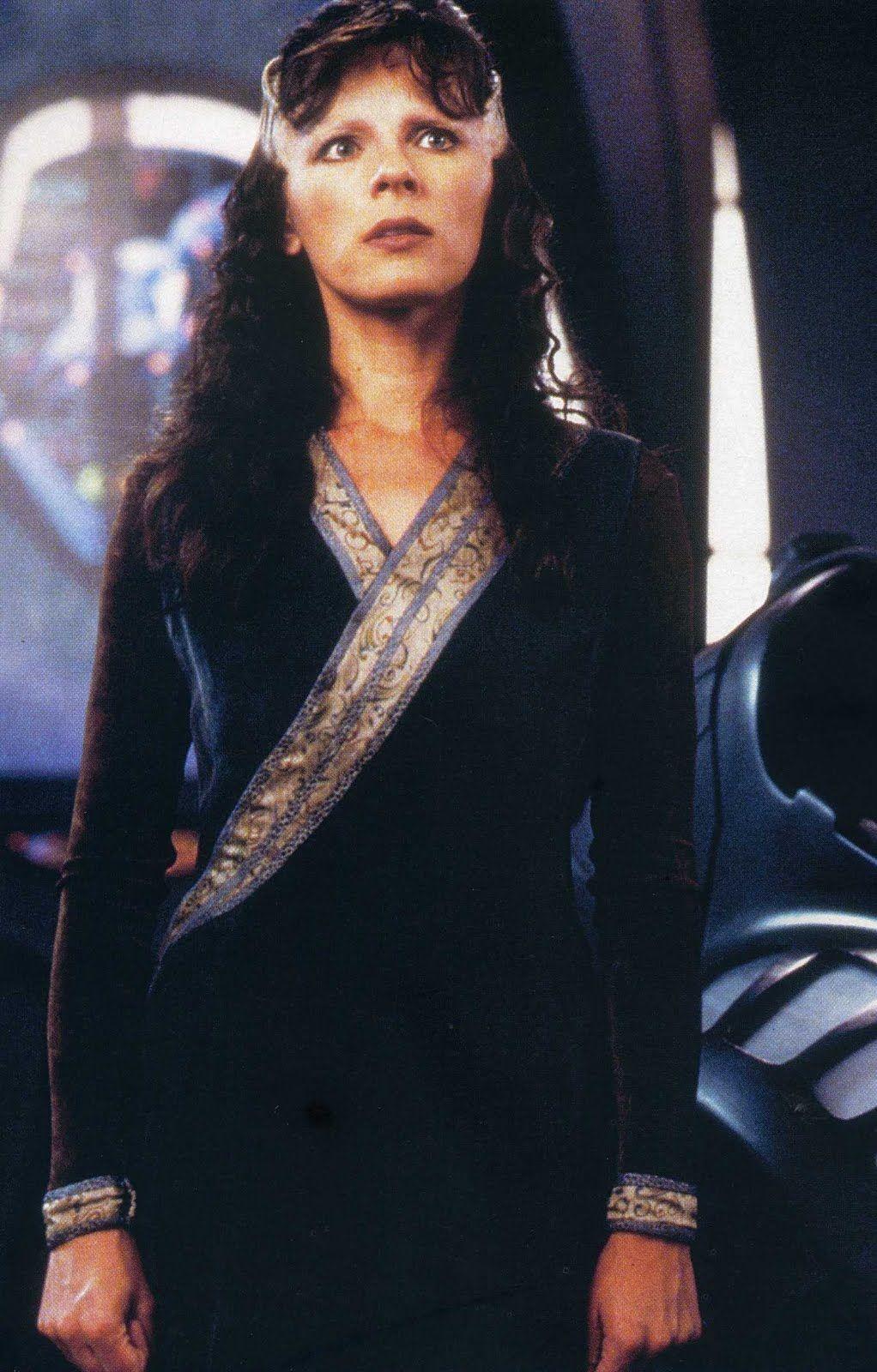 "Mira Furlan as Delenn on ""Babylon 5."""
