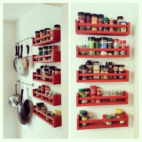 Home Depot Pot Rack Bekvam Spice Racks From Ikea $399 Each Stained With Minwax Wood