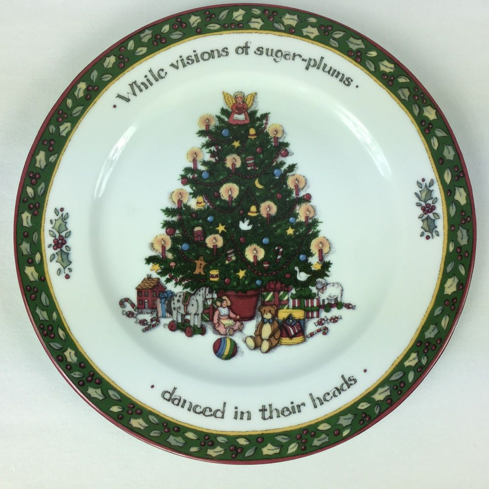 Susan Winget A Christmas Story Salad Plate While Visions Of ...