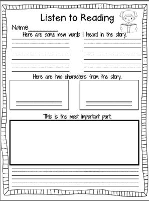 Listening response sheets in 2018 reading pinterest february classroom freebies too listening response sheets ibookread PDF
