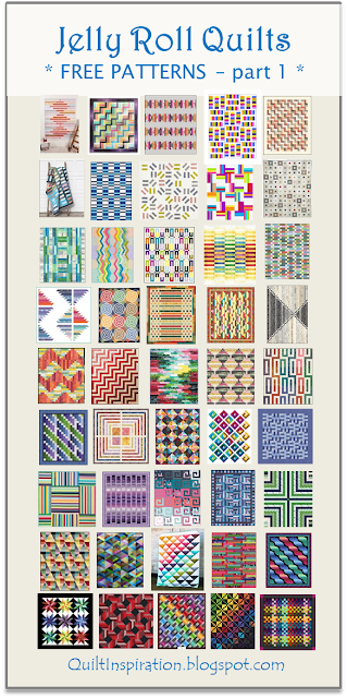 Free Pattern Day! Jelly Roll Quilts, part 1 of 2 (Quilt Inspiration) #jellyrollquilts