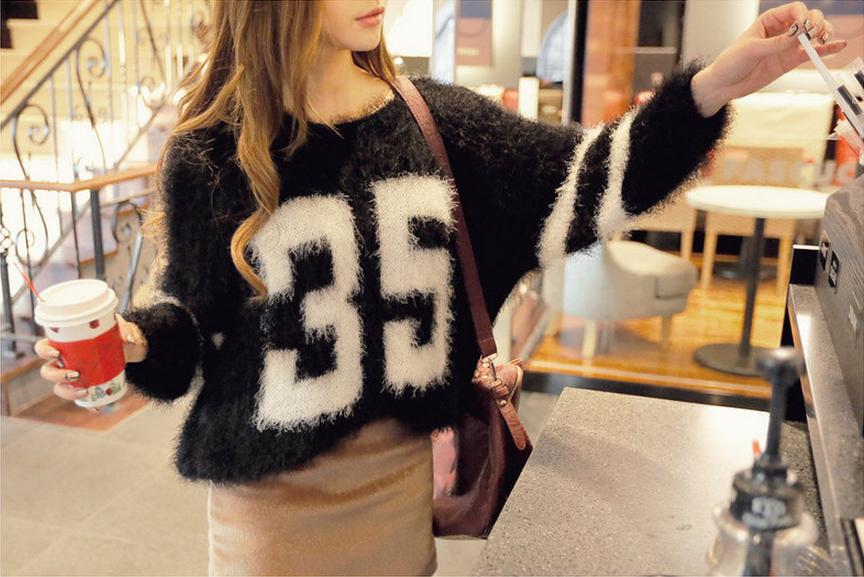 REDOPIN - Furry Knit Sweater #furryknitsweater #knitsweater #sweater #furrysweater