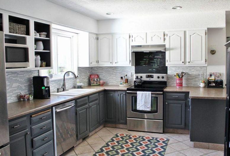 Best Traditional Dark Brown Cabinet Gray Kitchen Island Beige 400 x 300