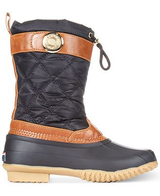 Sand Storm Women's Cold Weather Boots White White & Black Duck Boot Women