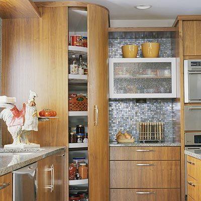 floor to ceiling lazy susan pantry? genius! | My Way Cool ...