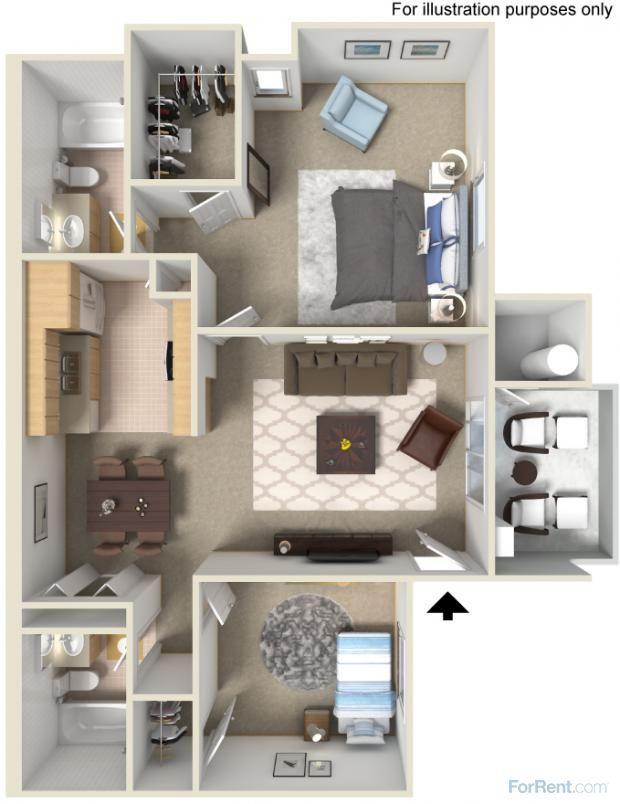 2 Bedroom Apartment Interior Design Sycamore Ridge In Vista Ca Love The Layout Love Love Love