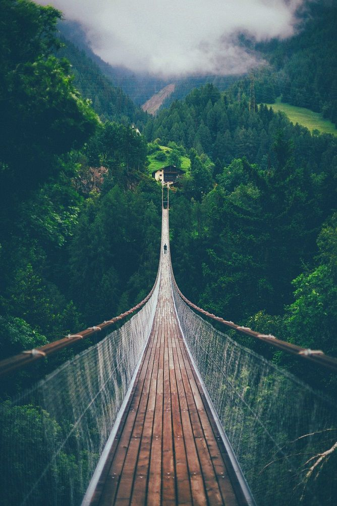 Suspension bridge in Switzerland