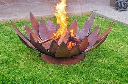 Cool Lotus Flower Fire Pit Interior Design Fire Outdoor Decor