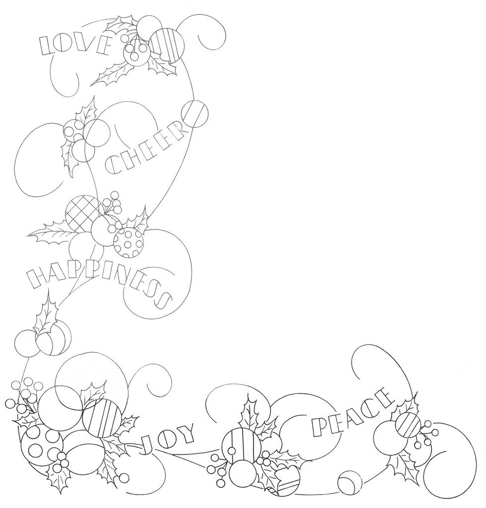 Love cheer happiness joy peace embroidery patterns and stitch
