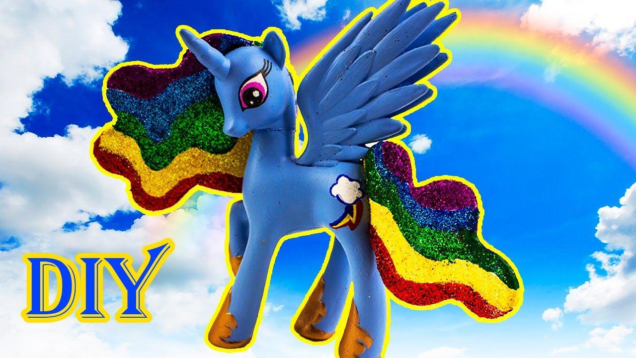 rainbow dash alicorn mlp my little pony diy painted craft