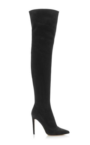 Matrix Over-The-Knee Stretch-Suede Boots by Sergio Rossi
