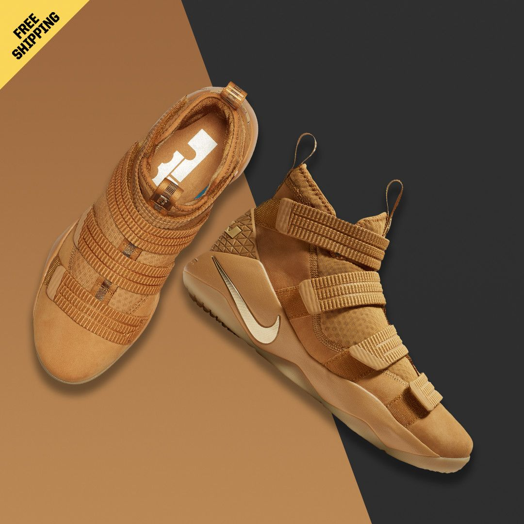83396f087e15 Strive for greatness with this classic colorway. The LeBron Soldier 11   Wheat  is available now.  basketball  sneakers  shoes  lebronjames