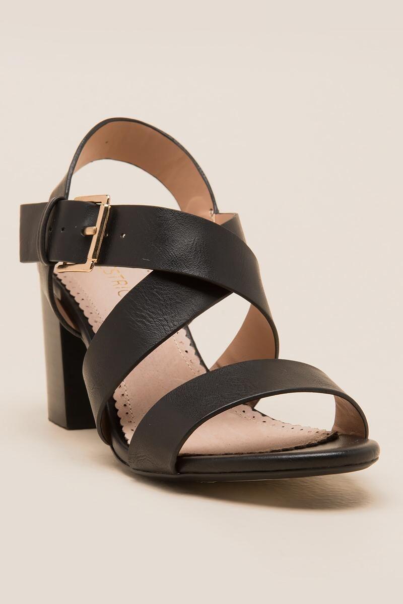 bf1641b69 Restricted, Kirby Strappy Block Heel | francesca's Strappy Block Heels,  Stylish Handbags, Sock