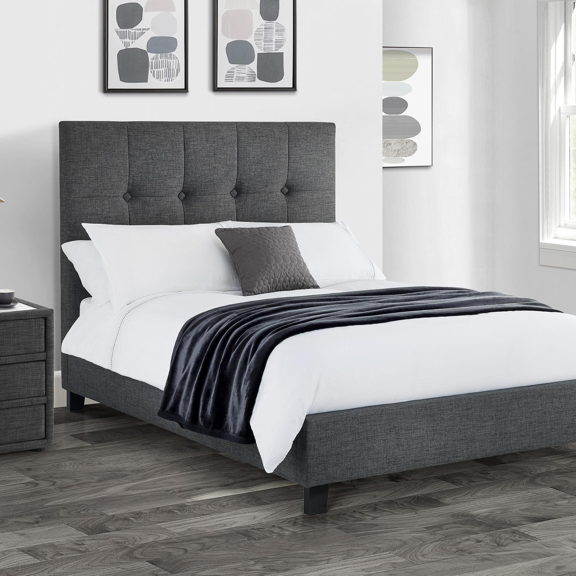 Sorrento Slate Grey Upholstered Bed Frame In 2020 Upholstered