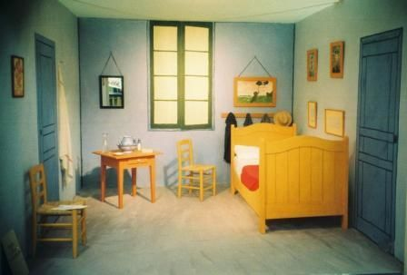 Vincent Van Gogh\'s painting Bedroom at Arles painted bedroom ...