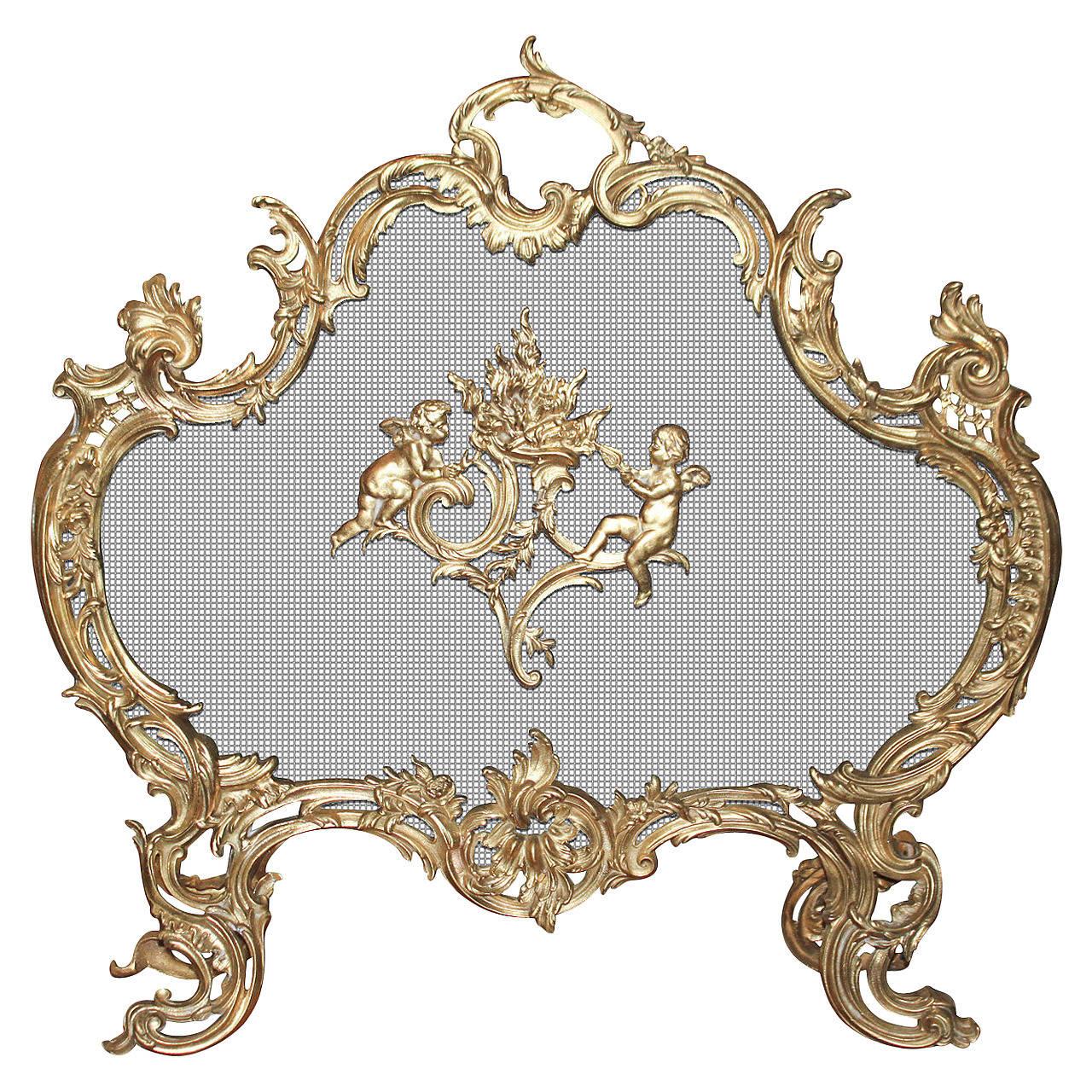 1 Only Antique Ornate Rococo Gilt Bronze Decorative Furniture Mount