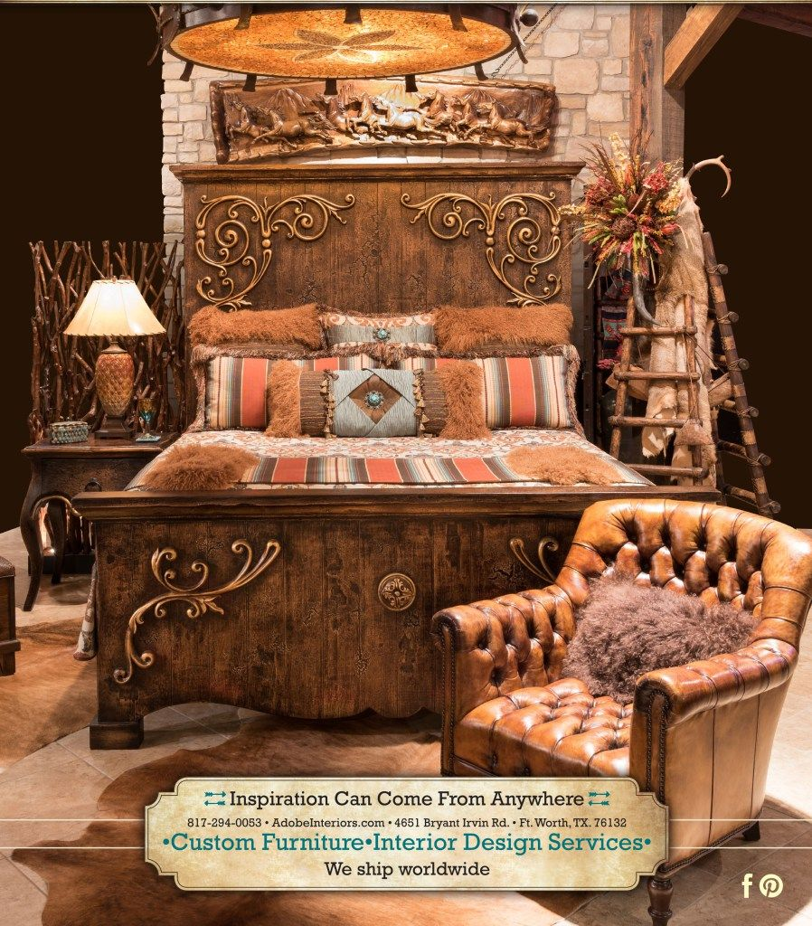 Rustic Elegant Bedroom Set Fort Worth Furniture Adobeinteriors Adobe Texas