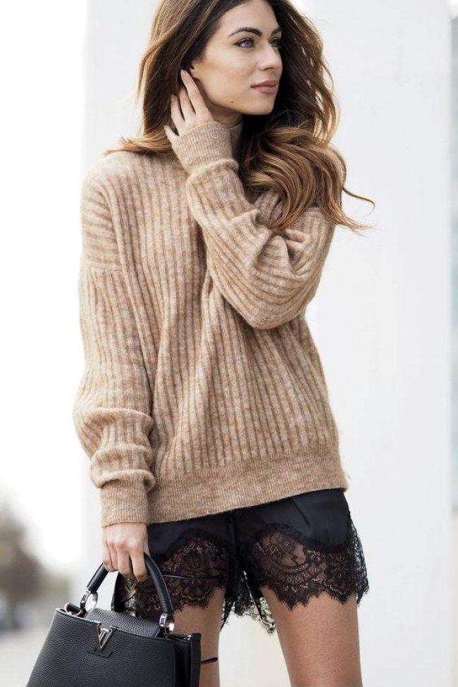 Sexy Streetstyle: Wie ihr den angesagten Lingerie-Look alltagstauglich stylen könnt! #shortslace