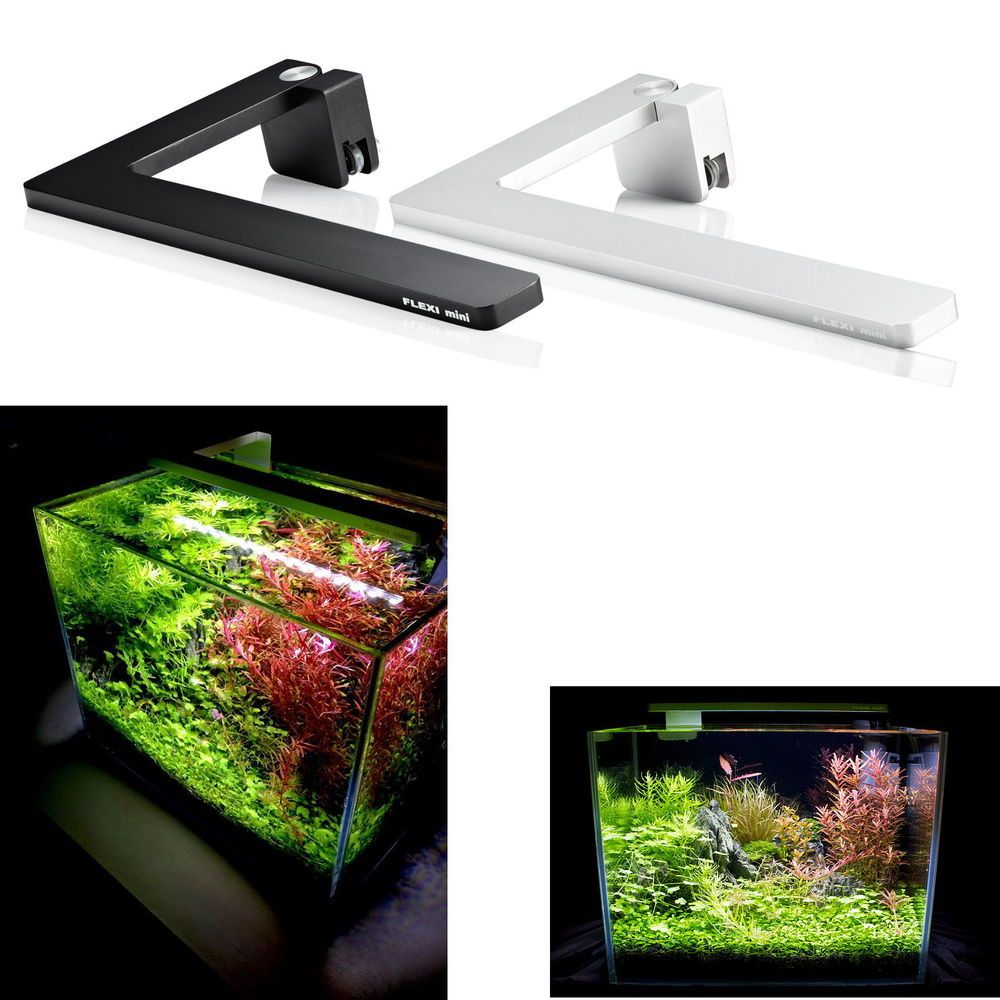 Nano led aquarium fish tank lighting - Azoo Led Flexi Mini Nano Light Full Spectrum Black Lighting Aquarium Fish Tank