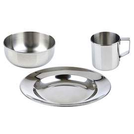 LunchBots Childrens Stainless Steel Dish Set Is The Perfect Solution For A Healthy And Safe Mealtime Made From Highest Quality