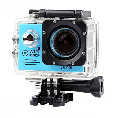 Lightdow LD6000 WiFi 1080P HD Sports Action Camera Bundle With DSPNovatek NT96655 Chip