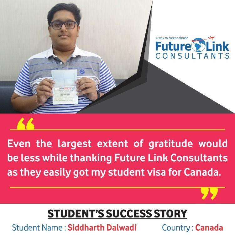 Siddharth successfully got his student visa for Canada