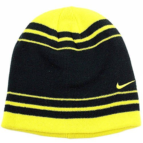 Nike Boys Black and Yellow Striped Beanie Hat 8 20 Nike  c8e117a85d0