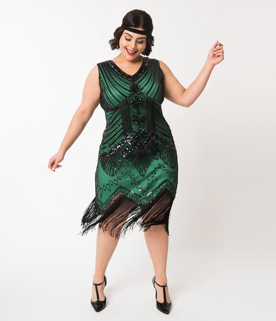 1920s Plus Size Flapper Dresses, Gatsby Dresses, Flapper Costumes ...