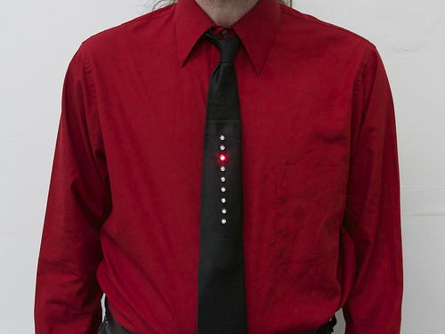 Kraftwerk Inspired Led Tie Made From The Emsl Larson Scanner Kit