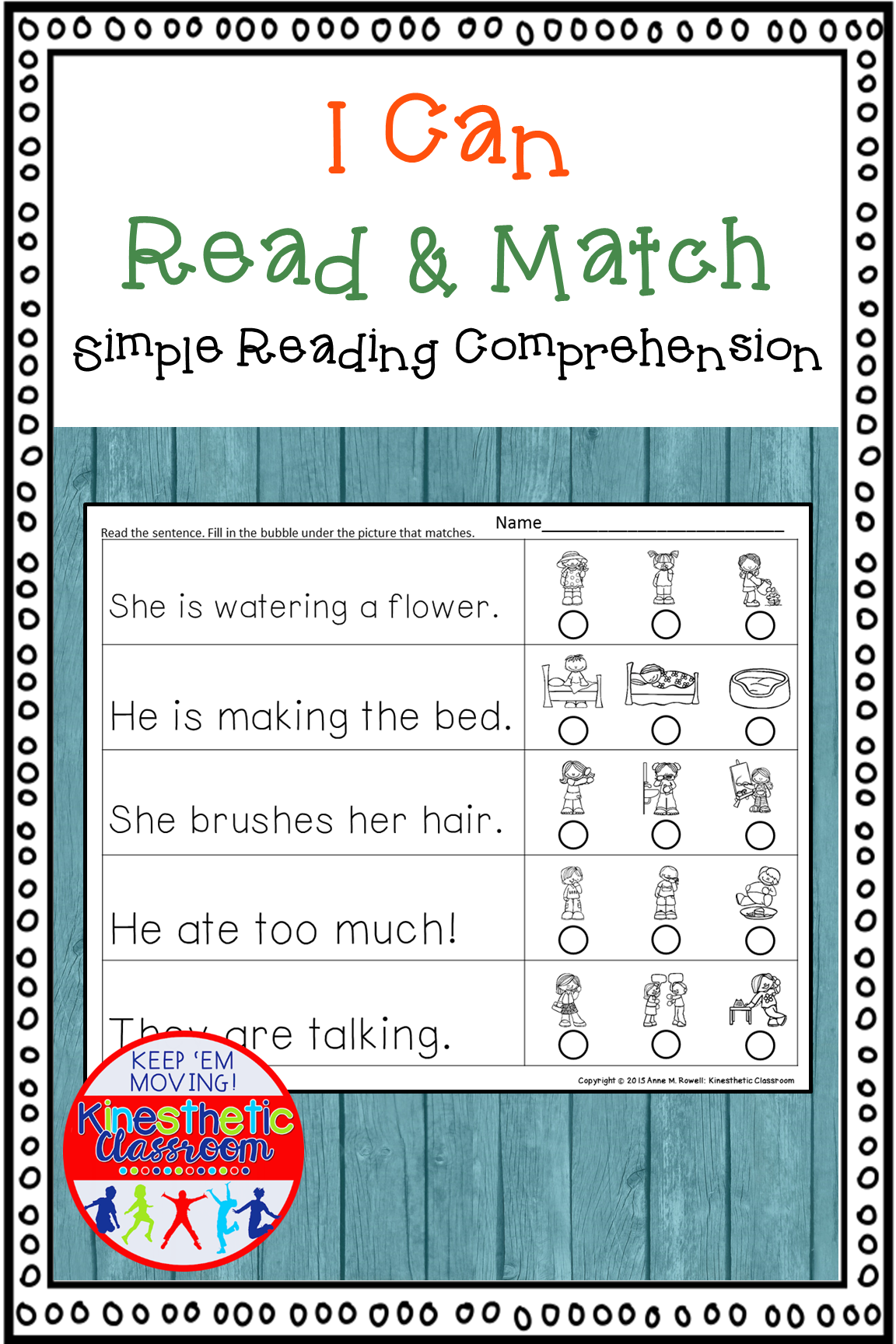 Reading Comprehension Read And Match
