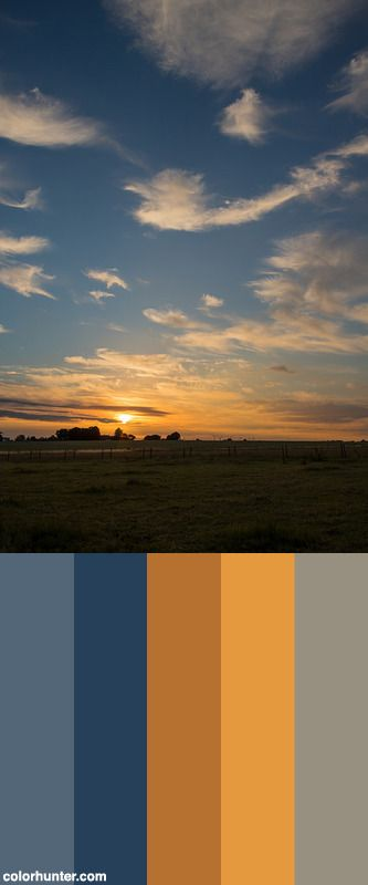Sunrise On The Countryside Color Scheme from colorhunter.com