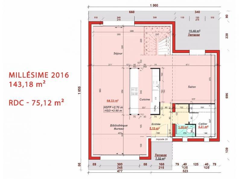 Plan RDC Millésime 2016 | Plan de maison neuve, Plan maison, Modèle maison