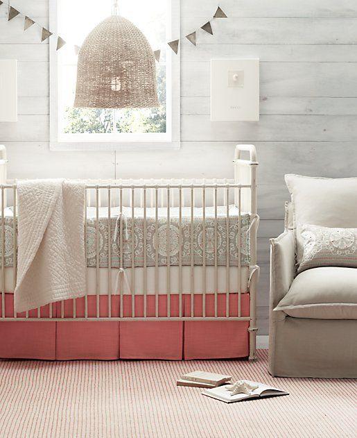 21 Gorgeous Gray Nursery Ideas: Gray Nursery With Raspberry Accents LOOOOOOVE This Color