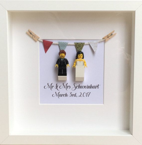 lego wedding gift personalised anniversary gift mr mrs. Black Bedroom Furniture Sets. Home Design Ideas