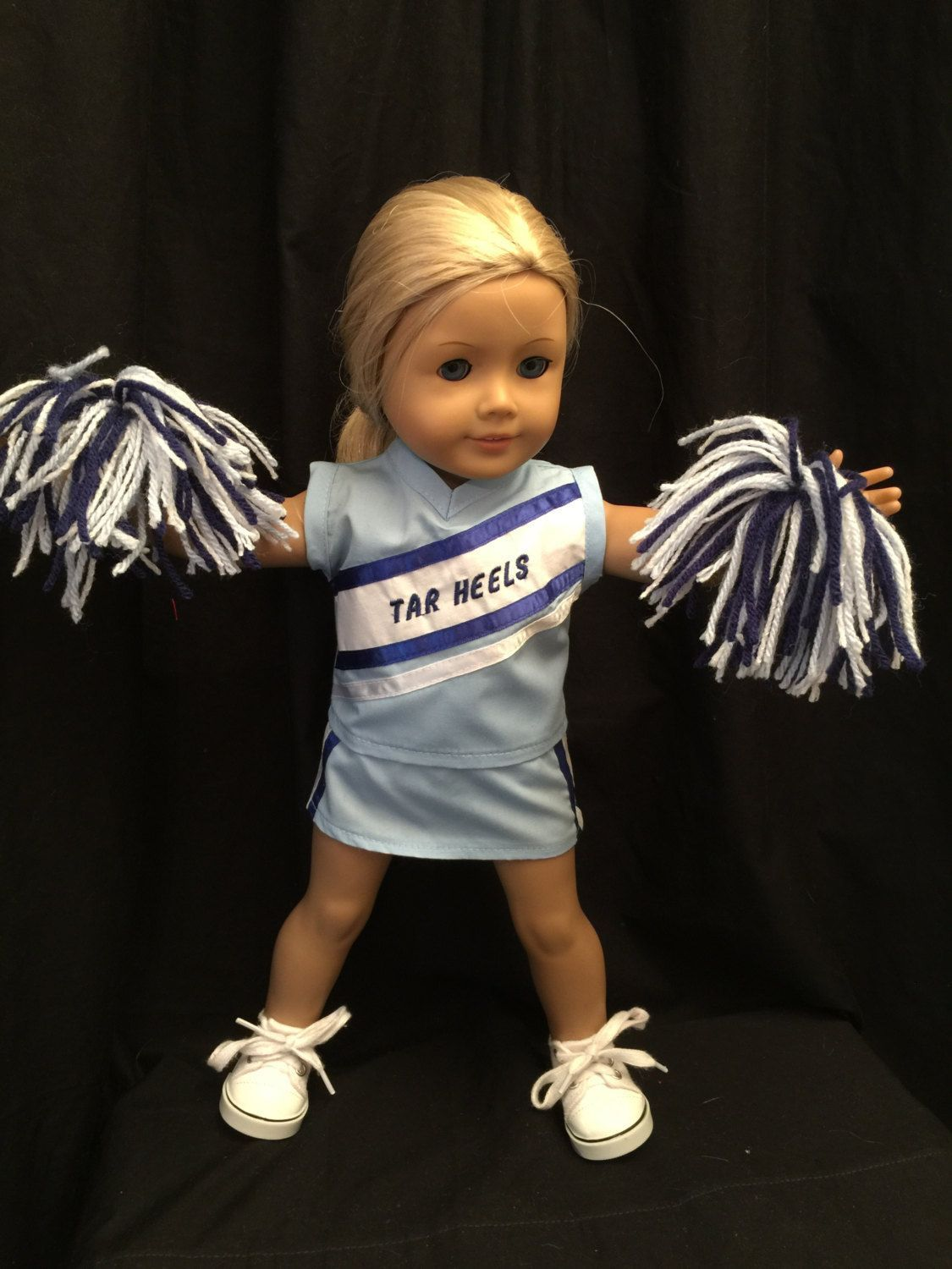 American Girl Doll Clothes: Tar Heels Cheerleading Outfit That Includes Top, Skirt, Panties And Pom-Poms In School Colors Fits 18 Inch Dolls by CutzieDollFashions on Etsy #18inchcheerleaderclothes American Girl Doll Clothes: Tar Heels Cheerleading Outfit That Includes Top, Skirt, Panties And Pom-Poms In School Colors Fits 18 Inch Dolls by CutzieDollFashions on Etsy #18inchcheerleaderclothes American Girl Doll Clothes: Tar Heels Cheerleading Outfit That Includes Top, Skirt, Panties And Pom-Poms I #18inchcheerleaderclothes