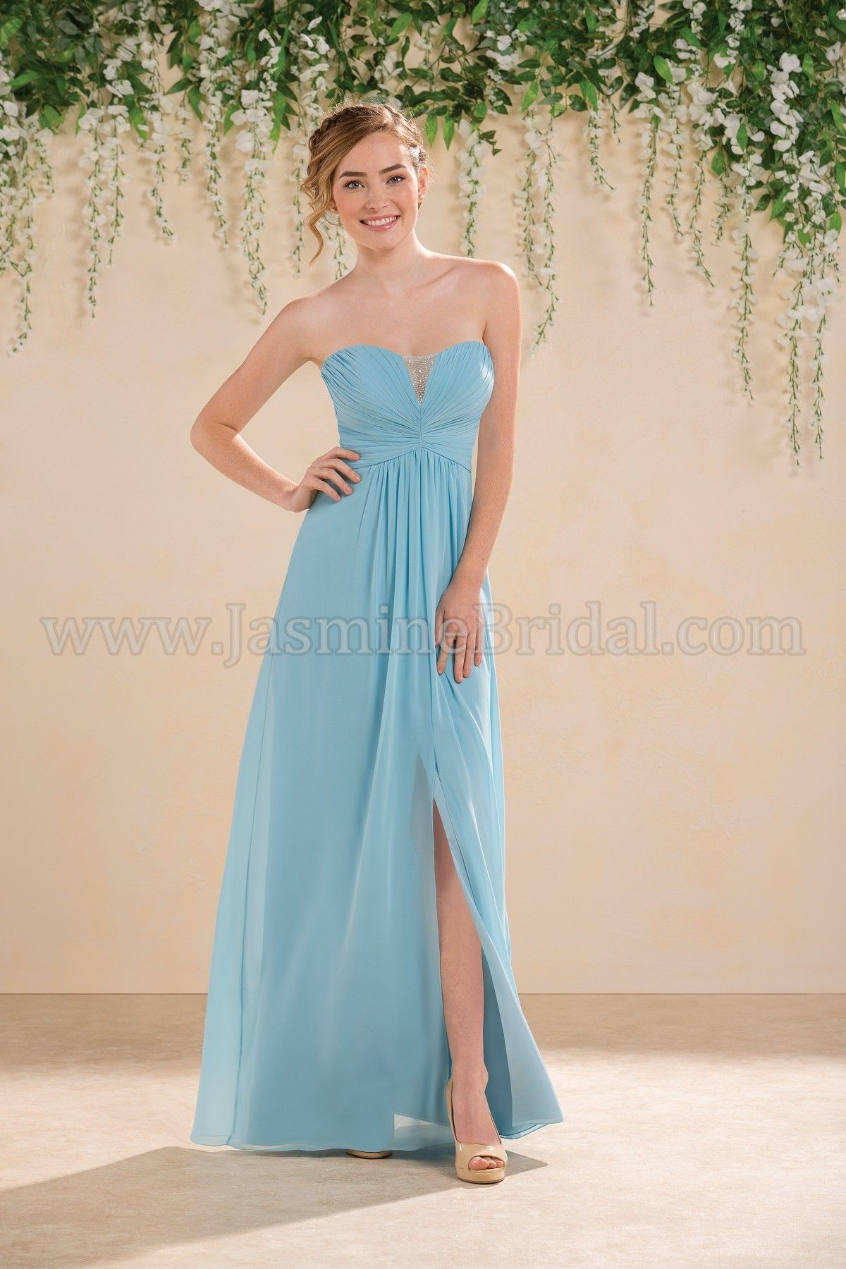 Jasmine Bridal Bridesmaid Dress B2 Style B183009 in Tahiti, Blue ...