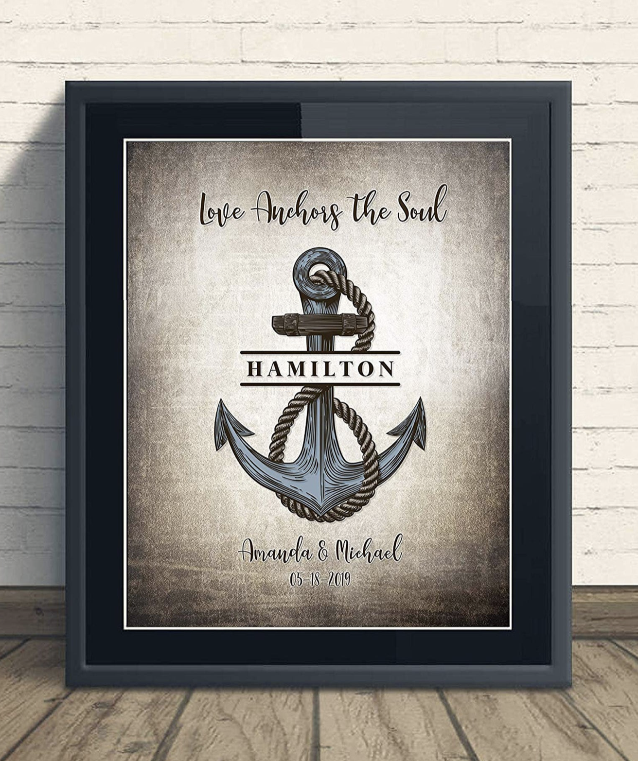 Love Anchors The Soul Sign Personalized With Couple's Name