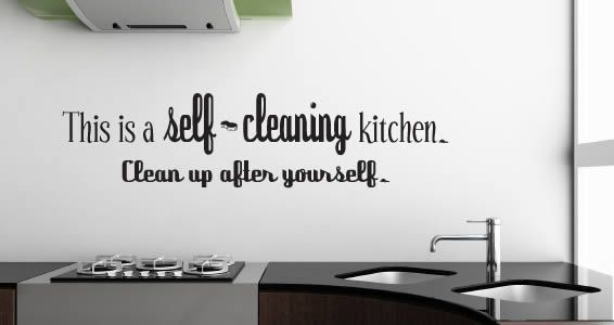Self Cleaning Kitchen wall decal | Kitchen wall decals, Decorating ...