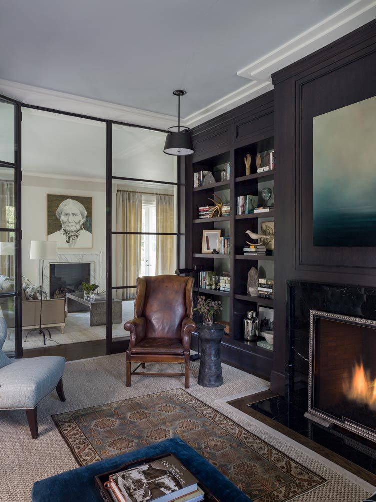 Love This Room By Beth Martin Group W Dark Casework And Fab Gl Wall Parioning The Study From Formal Living