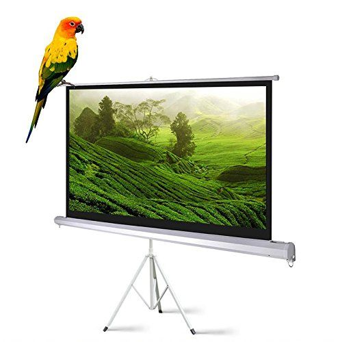 120 Portable Indoor Outdoor Projector Screen 120 Inch Diagonal Projection Hd 4 3 Projection Pull Up Foldable Stand Tripod With Images Projection Screen Outdoor Projector Screens Projector Screen Diy