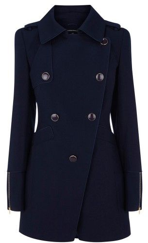 Navy button up jacket