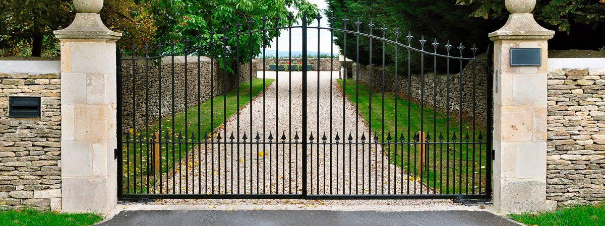 Custom Fabricated Iron Gates Amp Wrought Iron Garden Gates In