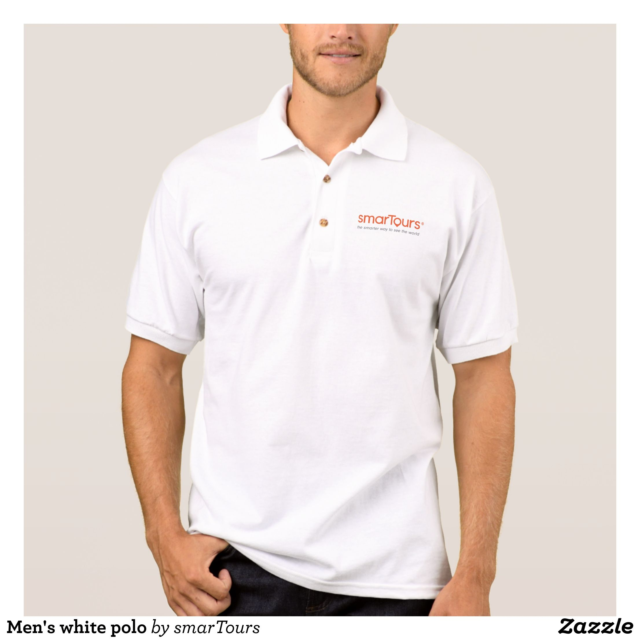 Mens White Polo Cool And Comfortable Golfer P Mens Polo