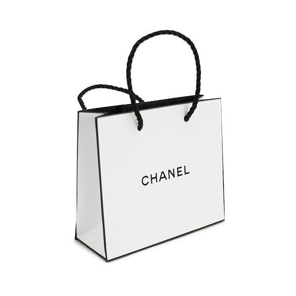 f52f042d8d27 ... directly operated stores paper bag bag shopper white 14... ($9.22) ❤  liked on Polyvore featuring bags, fillers, accessories, chanel and shopping  bags